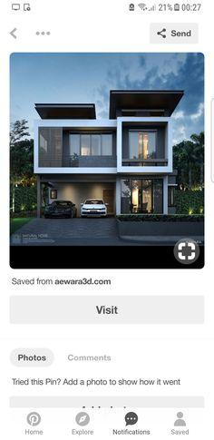 Architecture Design, Residential Architecture, House Front Design, Modern House Design, Townhouse Designs, Duplex House Plans, Modern Loft, Villa Design, Facade House