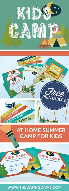 Kids Camp I love these cute camp printables! This is the perfect stay at home camp option.TheDatingDiva The post Kids Camp appeared first on Summer Diy. Camping Activities For Kids, Camping Games, Camping With Kids, Summer Activities, Kids Camp, Camping Ideas, Camping Essentials, Camping Theme, Outdoor Activities
