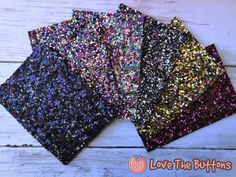 Mini Sample Set 6 Colors of Tania Super Premium Chunky Glitter Sheets, x 4 inches Faux Leather Sheets, Chunky Glitter Faux Leather. Bow Template, Leather Sheets, Glitter Fabric, Christmas Deco, How To Make Bows, Leather Earrings, Purple Dress, Little Gifts, Silhouette Cameo