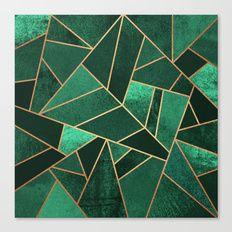 Emerald and Copper Canvas Print