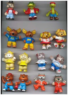 Get Along Gang- Still have these, except for all the ones on the top row, and the beaver at the bottom.