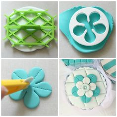Easy Tiffany cupcakes tutorial.  Valeria Mei Cagnoli - cake designer.