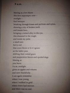 9 AM by Charles Bukowski