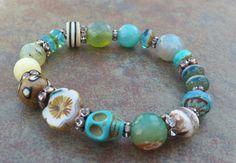 Dia de los muertos Jewelry stretch bracelet. by JewelitCouture