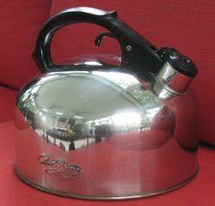 Sparkling Vintage Revere Ware Whistling Tea Kettle