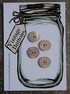 Vintage Mother of Pearl Buttons   by Bonkers About Buttons