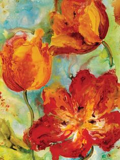 Hot Spring Hot Springs, Florals, Art Ideas, Bright, Paintings, Wall Art, Vintage, Floral, Spa Water