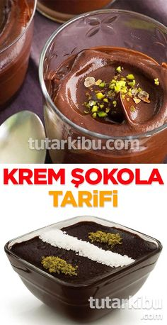 Krem Şokola Homemade Beauty Products, Catering, Food To Make, Sweet Treats, Food And Drink, Pudding, Smoothie, Cooking, Desserts