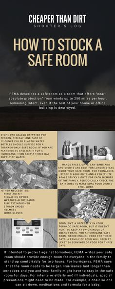 Click the image to learn how to create and stock a safe room in your house.