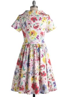 Paint a Picturesque Dress in Floral, #ModCloth