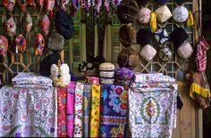 Uzbekistan, Suzani and Headwear including Duppi