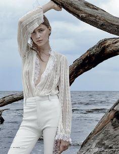 First Snow: Sofia Tesmenitskaya by Greg Lotus for Vogue Russia October 2015