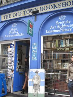 quaint bookshop in Edinburgh