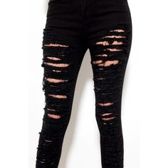 Shredded Skinny Denim in Black ($31) ❤ liked on Polyvore featuring jeans, pants, bottoms, calças, skinny jeans, black, zipper jeans, cut skinny jeans, zipper skinny jeans and slim cut jeans