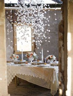 Inspiring Winter Wedding Decoration Ideas. See these ideas for creative table decor for your winter wedding