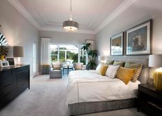 Bedroom Photos Gray Master Bedroom Chandelier Design, Pictures, Remodel, Decor and Ideas - page 32