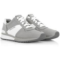 Michael Kors Sneakers, MICHAEL Allie Trainer Satin Pearl Grey Shoe
