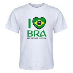 72d1824be Brazil 2018 FIFA World Cup Russia™ I Heart Brazil Juvenile T-Shirt (White)