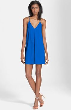 Alice + Olivia 'Fierra' Y-Back Tank Dress available at #Nordstrom