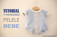 DIY, patrones, ropa de bebe y mucho más para coser.: DIY Tutorial y patrones: PELELE o RANITA de BEBE