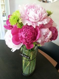 """Made these beautiful peony""""thank you"""" bouquets....."""