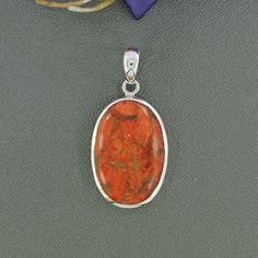 Sponge Coral Pendant, Set In Solid Sterling Silver Pendant Jewelry, Oval Gemstone Pendant, Artisan Handmade Gift Pendant Jewelry, P/23/11 by Silvergem2014 on Etsy https://www.etsy.com/listing/239644905/sponge-coral-pendant-set-in-solid