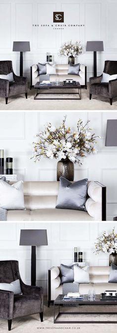HOME FURNITURE IDEAS | Luxury Furniture Designed & Handmade in London | The Sofa & Chair Company | bocadolobo.com/ #modernsofa #sofaideas