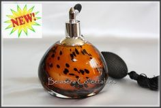 New Leopard Color Art Glass Perfume Bottle With Atomizer Spray