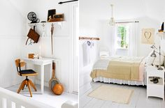 Preciosa casa rústica con el blanco como protagonista - http://www.decoora.com/preciosa-casa-rustica-con-el-blanco-como-protagonista.html