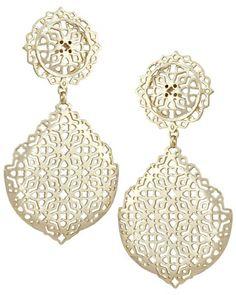 Genevieve Statement Earrings in Gold - Kendra Scott Jewelry.