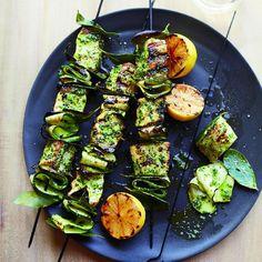 Swordfish Skewers with Salsa Verde Recipe | http://aol.it/1nBAtK1