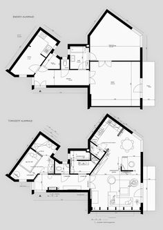 Architecture Drawings, Concept Architecture, Home Design Plans, Plan Design, Triangle House, Classic House Design, Lobby Design, House Elevation, Construction Design