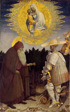 Virgin and Child with Saints George and Anthony by Pisanello