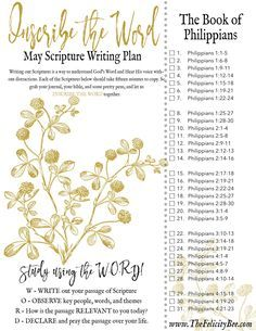 The book of Philippians is a powerful book that reminds us that true JOY is only found in Jesus. Joy is based on an inner contentment knowing that God is in control! Join us for our May Scripture Writing Plan as we Inscribe THE BOOK OF PHILIPPIANS. Bible Study Plans, Bible Plan, Bible Study Tips, Bible Study Journal, Scripture Journal, Journal Quotes, Journal Prompts, Scripture Reading, Scripture Study