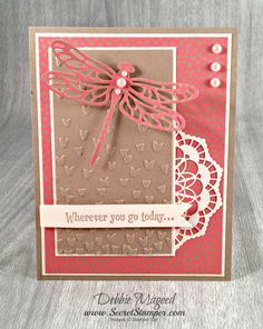 Detailed Butterfly Thinlits, Dragonfly Dreams, Affectionately Yours, Stampin Up