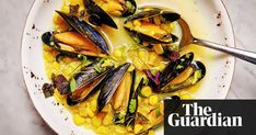 Mussel, rice and sweetcorn soup - a cross between a chowder and a Chinese broth, this will brighten up the darkest winter days in only 15 minutes Ravinder Bhogal Recipes, Seafood Recipes, Mussels, Rice Dishes, Fish And Seafood, Chinese Food, Soul Food, Chowder, Stew