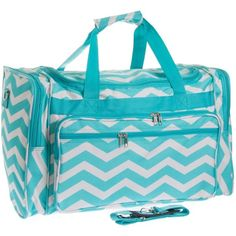 Womens Printed Duffel Bag (Chevron) ❤ liked on Polyvore featuring bags and luggage