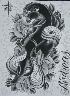Panther Snake Tattoo Picture Last Sparrow Design 24262 526x719 Pixel