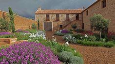Jardín-patio de un cortijo en Consuegra, Toledo : Urquijo-Kastner