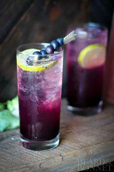 Blueberry Lavender Fizz {Beard and Bonnet} #glutenfree #vegan