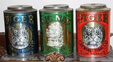 Original Country Store Tobacco Tins Collection Cigar Store, Display Cases, Store Displays, Tins, Coffee Cans, Canning, The Originals, Country, Antiques