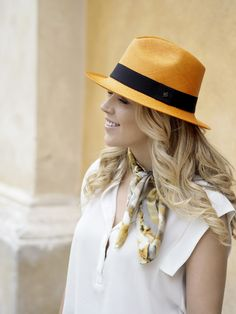 Balmuir Monaco Panama hat is a classic model with a wide brim. It takes weeks to produce this unique hat, because the palm fibers are weaved in a special way. All Balmuir Panama hats are handmade from natural toquilla palm fibers. Orange Hats, Monaco, Panama Hat, Take That, Unique, Model, Style, Fashion, Moda