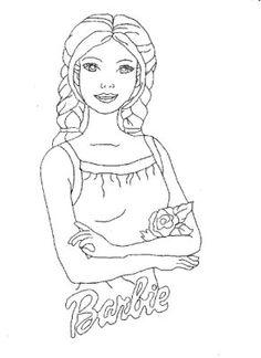 risco+para+pintura+em+tecido+infantil+barbie.jpg (291×400)
