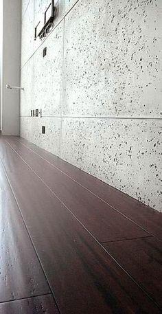 Beton architektoniczny i beton konstrukcyjny we wnętrzu. Betonowe dekoracje ścienne Concrete Texture, Concrete Design, Concrete Wall, Home Interior Design, Exterior Design, Concrete Interiors, Clock Decor, Wall Cladding, Monsoon