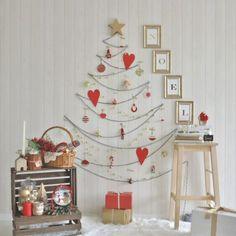 手作りアイテムにこだわった「#手作りクリスマス」の飾り付け。テーマカラーは白×赤…