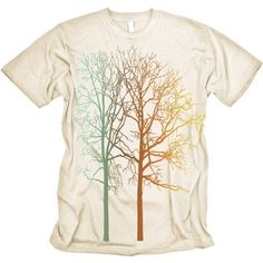 Colorful Trees Graphic MENS natural Tee $16