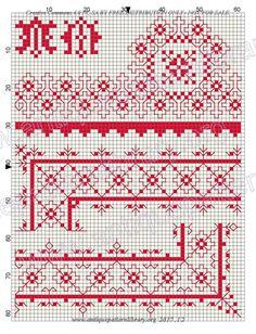 Gallery.ru / Фото #156 - Stickmuster fur Schule und Haus - gabbach Cross Stitch Borders, Blackwork, Fonts, Bruges Lace, School, House, Font Downloads, Script Fonts, Wedding Fonts
