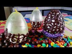 Como Hacer Huevos De Chocolate Con Globos - Receta Fácil - YouTube