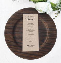 Free menu template, printable menu, rustic menu, wedding menu, editable template