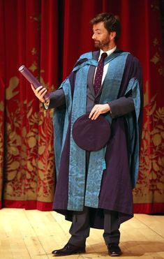 No David, it's not the new S10 Sonic Screwdriver — David Tennant is awarded an honorary drama doctorate from his alma mater, the Royal Conservatoire of Scotland.